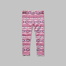 girls patterned crop leggings