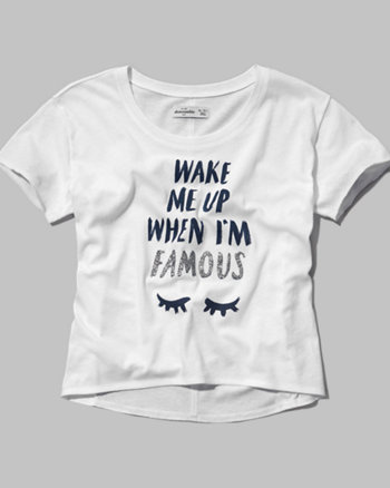 kids wake me when i'm famous graphic tee