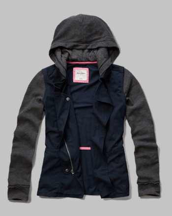 kids twill hoodie jacket