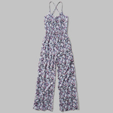 girls strappy wide leg jumpsuit