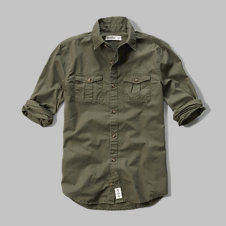 girls military pocket shirt