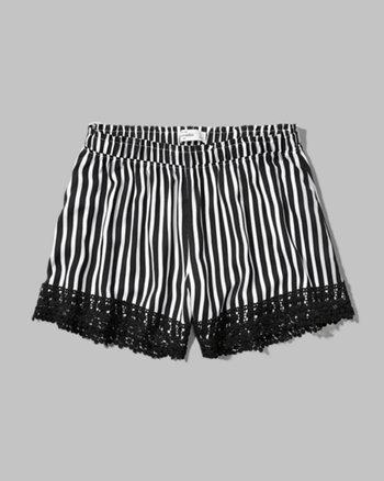 kids lace hem drapey shorts