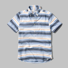 girls oxford popover shirt