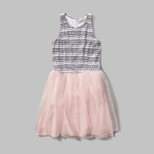 girls patterned tutu dress