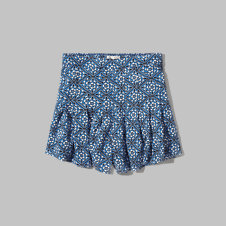 girls pleated drapey shorts