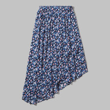 girls floral asymmetrical midi skirt