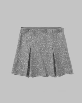 kids structured pleat ponte skirt