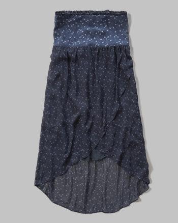 kids floral maxi skirt