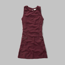 girls a-line zip pocket dress