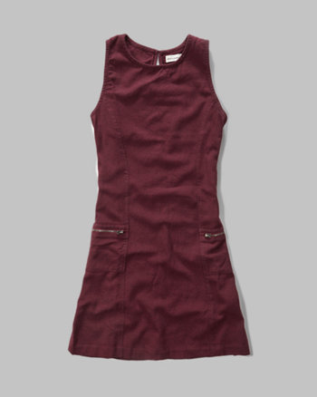 kids a-line zip pocket dress