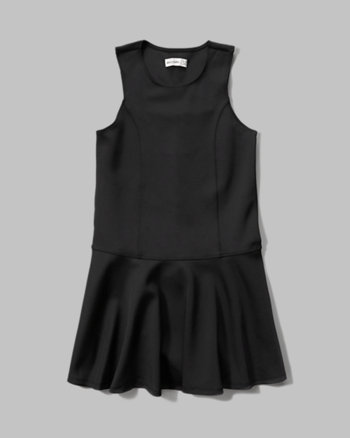 kids drop waist neoprene skater dress