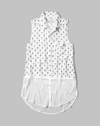kids chiffon sleeveless shirt