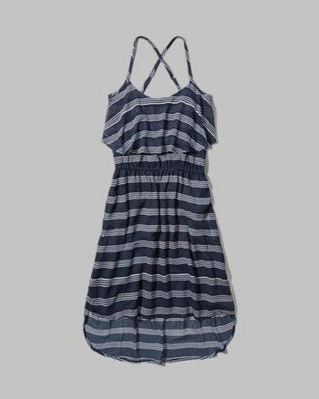 kids stripe chiffon swing dress