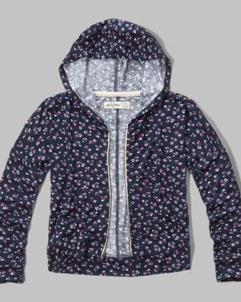 kids patterned drapey hoodie