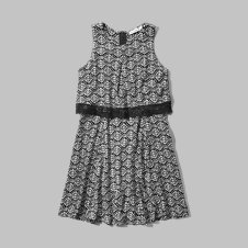 girls pattern overlay dress
