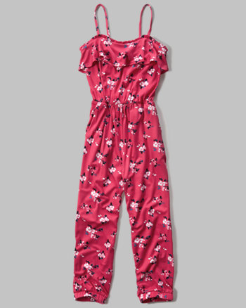 kids floral jumpsuit