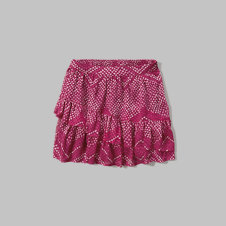 girls Patterned Ruffle Tier Skirt