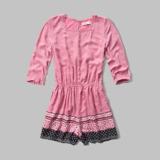 girls patterned peasant romper