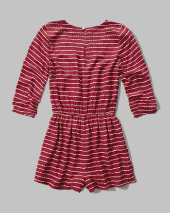 kids patterned peasant romper