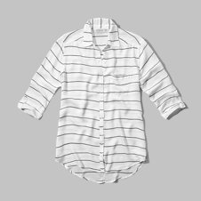 girls striped boyfriend shirt