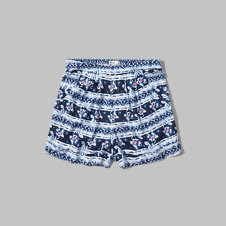 girls pattern boyfriend drapey shorts