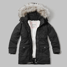 girls sherpa lined parka