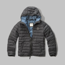 girls hooded lightweight puffer jacket