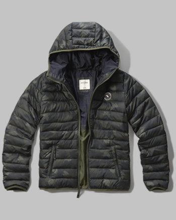 kids hooded lightweight puffer jacket