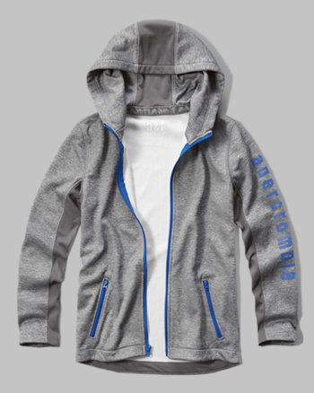kids a&f sport logo graphic hoodie