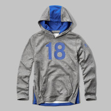 girls a&f sport contrast hoodie