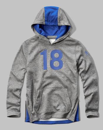 kids a&f sport contrast hoodie