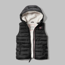 girls sherpa lined puffer vest