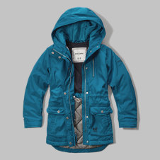 girls fleece lined parka