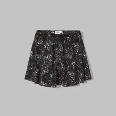 girls printed skater skort