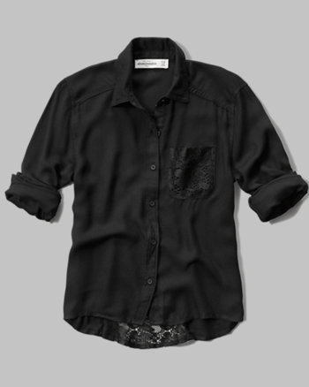 kids lace back pocket shirt