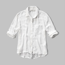 girls lace back pocket shirt