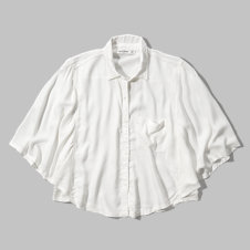 girls cropped drapey shirt