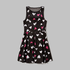girls pleated neoprene skater dress