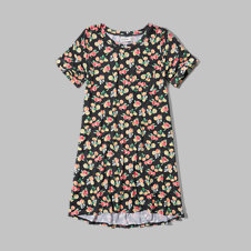 girls patterned t-shirt dress