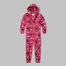 girls printed onesie