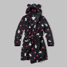 girls logo printed robe