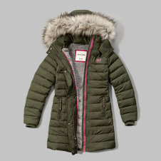 girls sherpa lined quilted parka