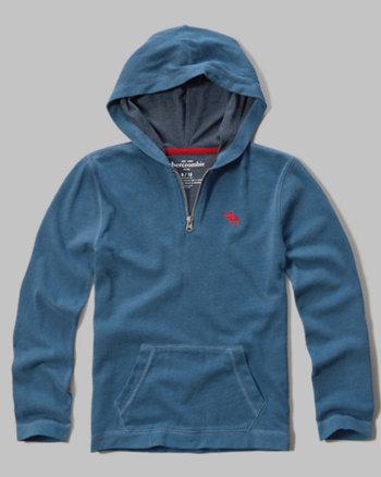 kids quarter zip logo hoodie