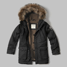 girls sherpa-lined utility parka