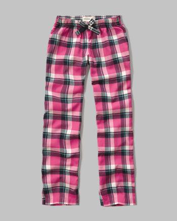 kids plaid sleep pants