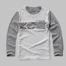 girls printed long-sleeve tee