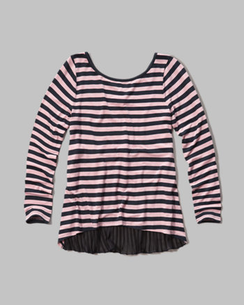 kids pleat back top