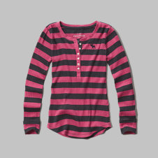 girls striped henley