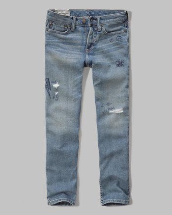 kids a&f skinny jeans