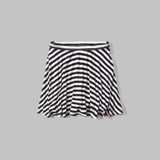 girls striped skater skirt